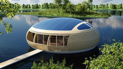 round floating water-house